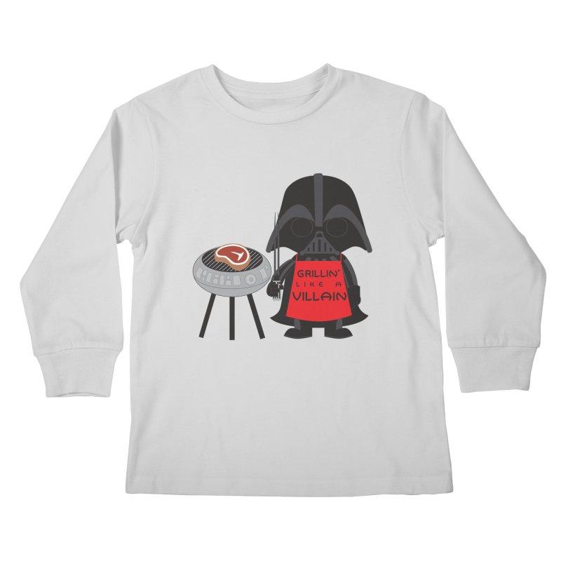 Death Star BBQ Kids Longsleeve T-Shirt by LLUMA Creative Design