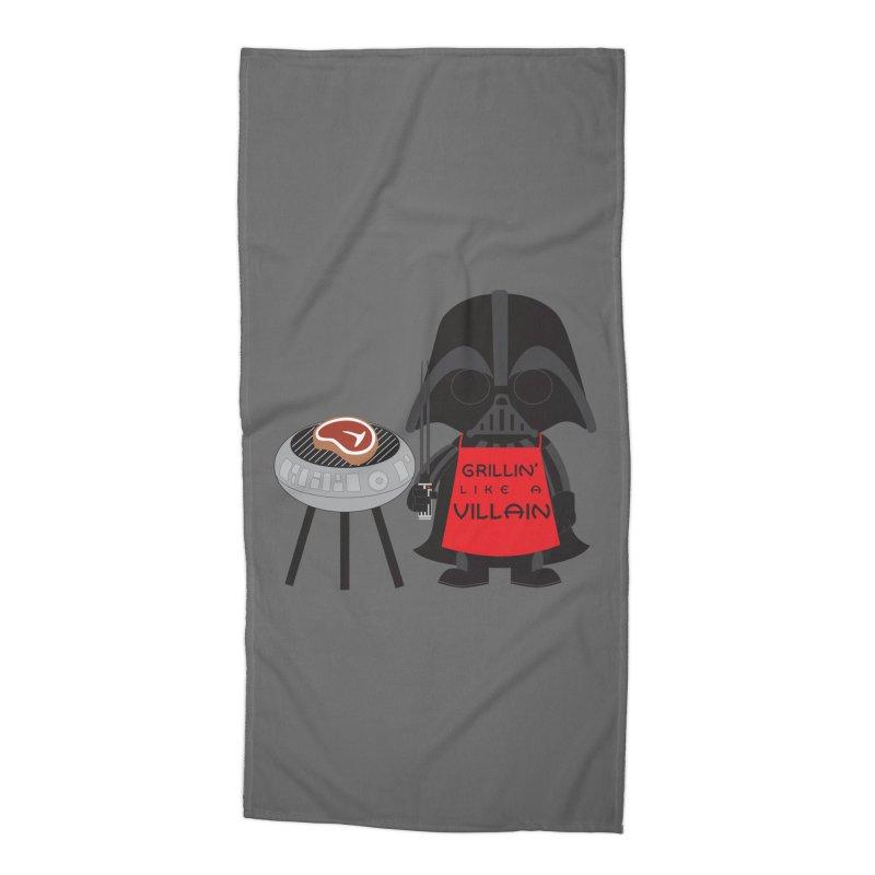 Death Star BBQ Accessories Beach Towel by LLUMA Creative Design