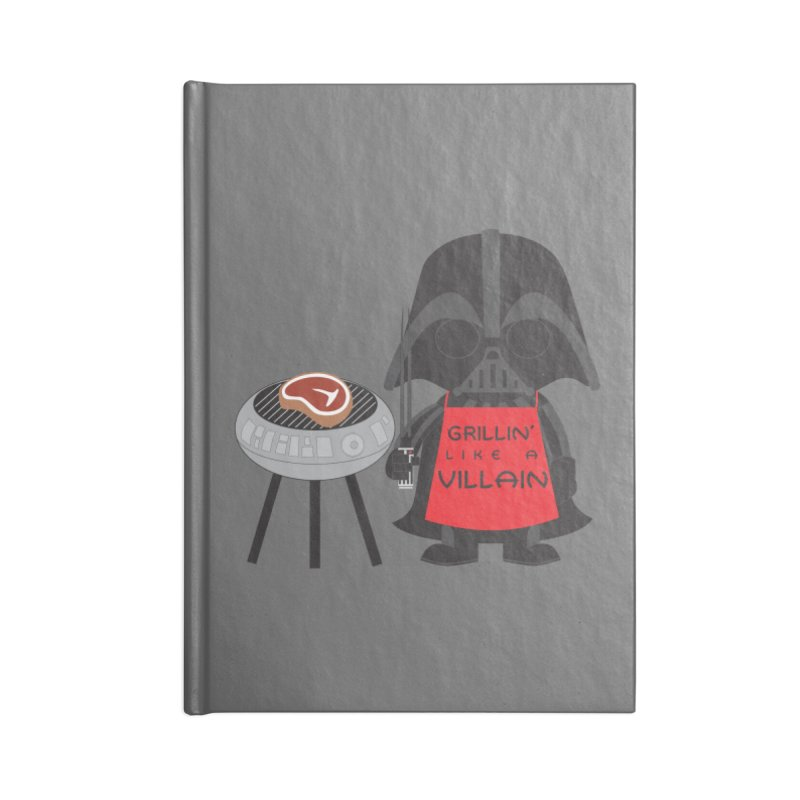 Death Star BBQ Accessories Lined Journal Notebook by LLUMA Creative Design