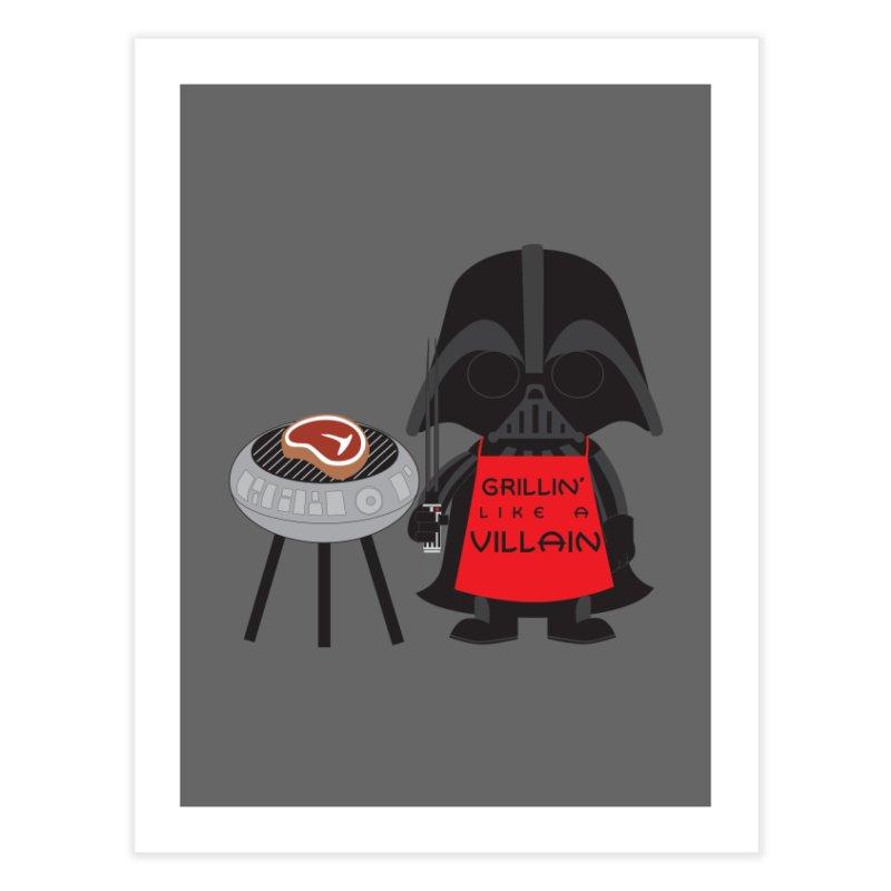 Death Star BBQ Home Fine Art Print by LLUMA Creative Design