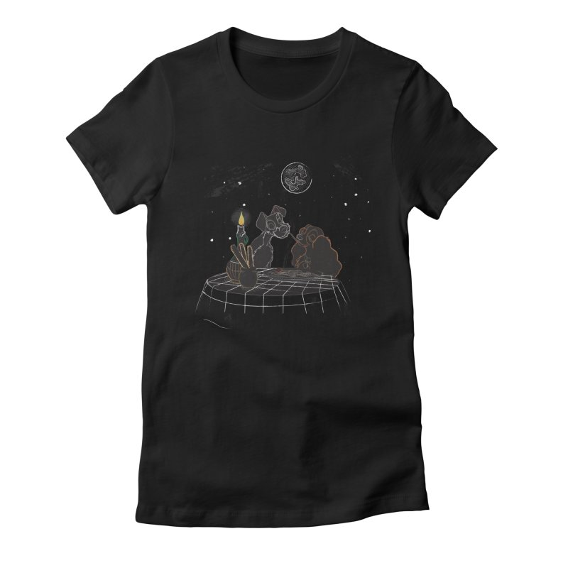 Spaghetti For Two Women's Fitted T-Shirt by LLUMA Design