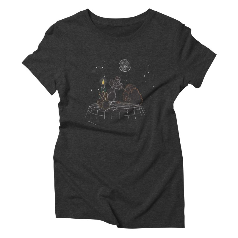 Spaghetti For Two Women's Triblend T-Shirt by LLUMA Design