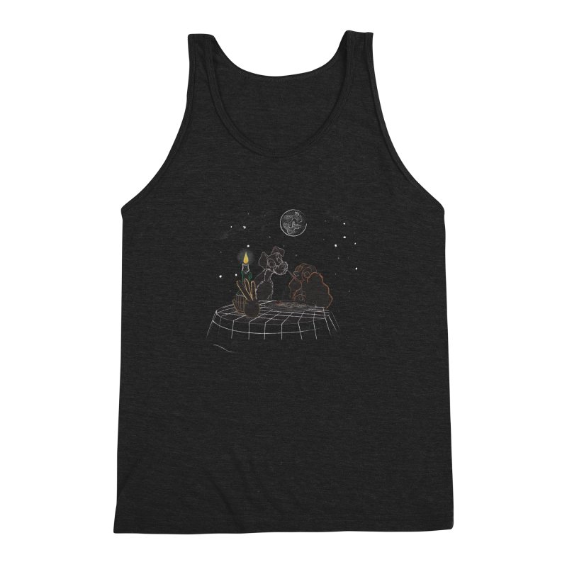 Spaghetti For Two Men's Triblend Tank by LLUMA Design