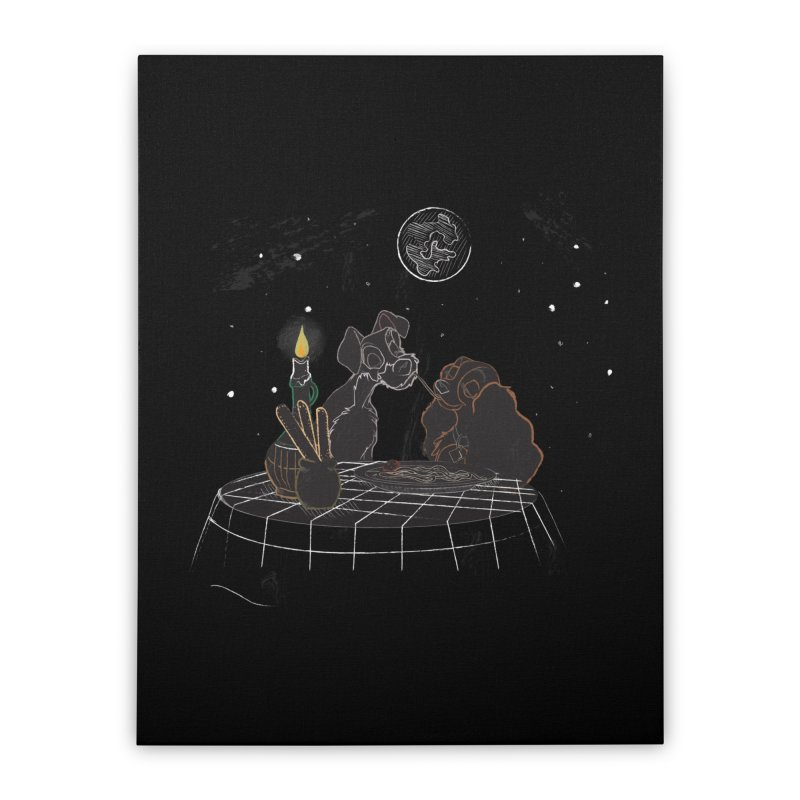 Spaghetti For Two Home Stretched Canvas by LLUMA Design