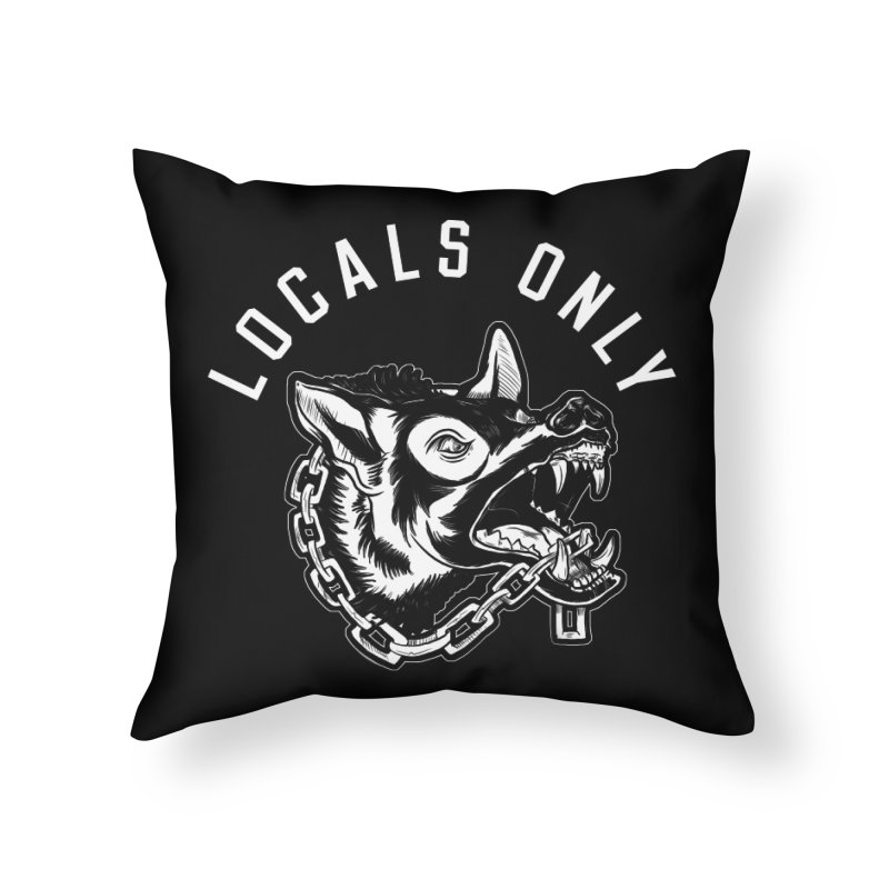 BEWARE  Home Throw Pillow by Dro