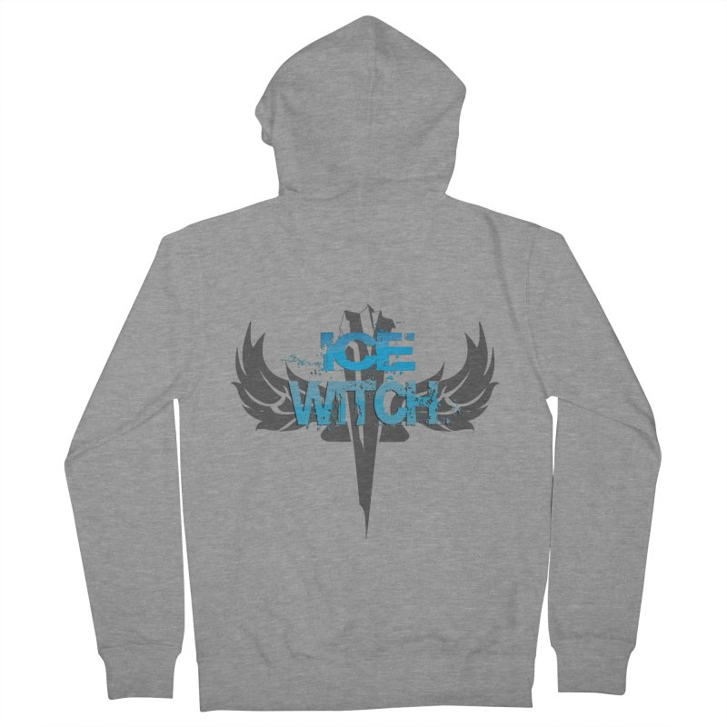 Ice Witch Tattoo Women's French Terry Zip-Up Hoody by Lockett Down's Artist Shop
