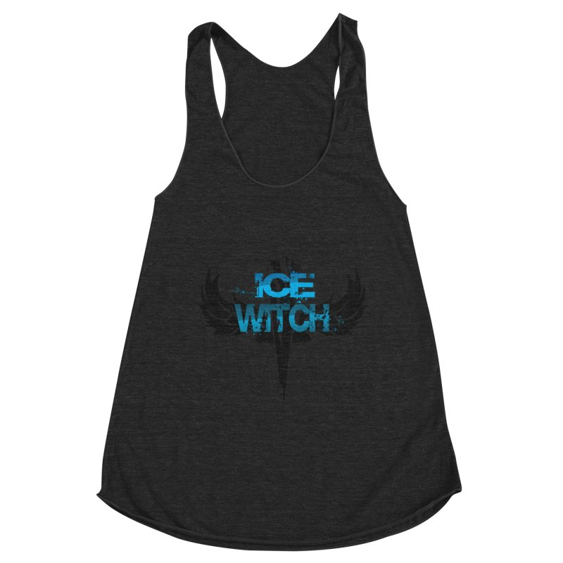 Ice Witch Tattoo Women's Racerback Triblend Tank by Lockett Down's Artist Shop