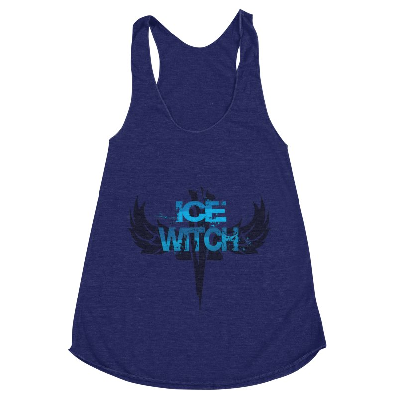 Ice Witch Tattoo Women's Racerback Triblend Tank by Lockett Down's Artist Shop