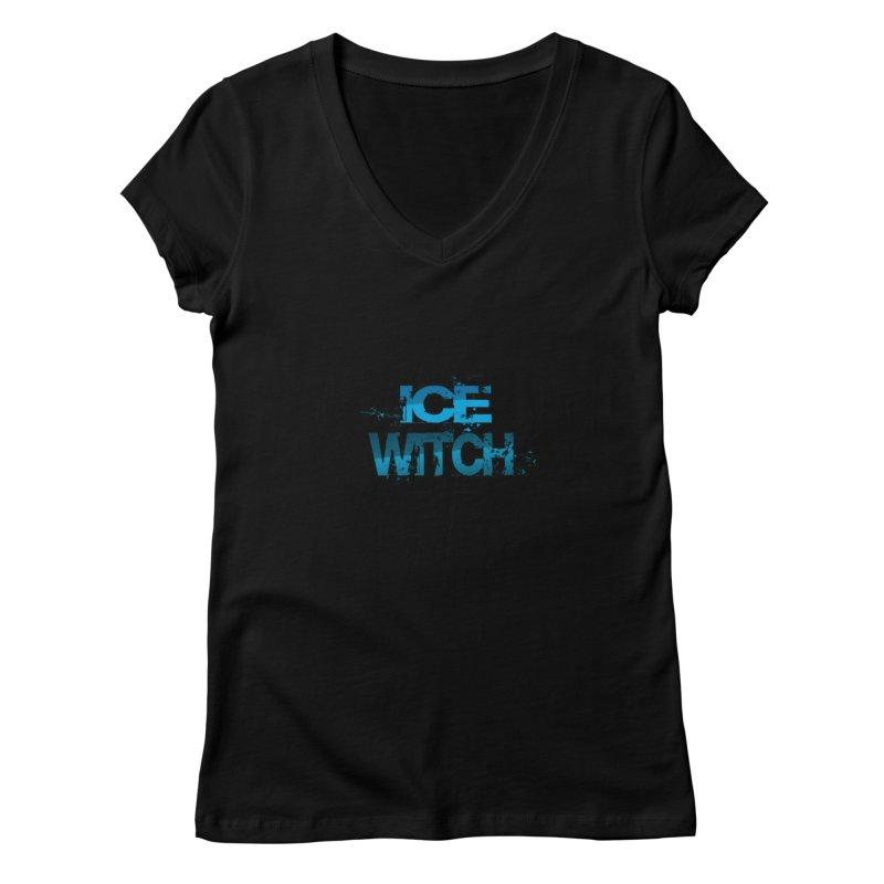 Ice Witch Tattoo Women's V-Neck by Lockett Down's Artist Shop