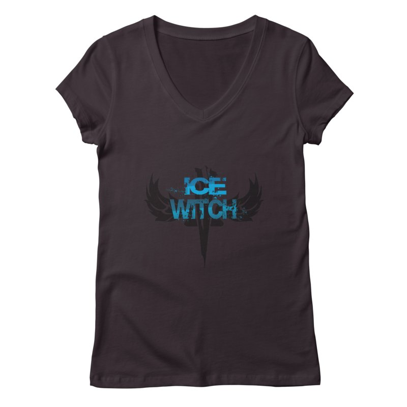 Ice Witch Tattoo Women's Regular V-Neck by Lockett Down's Artist Shop