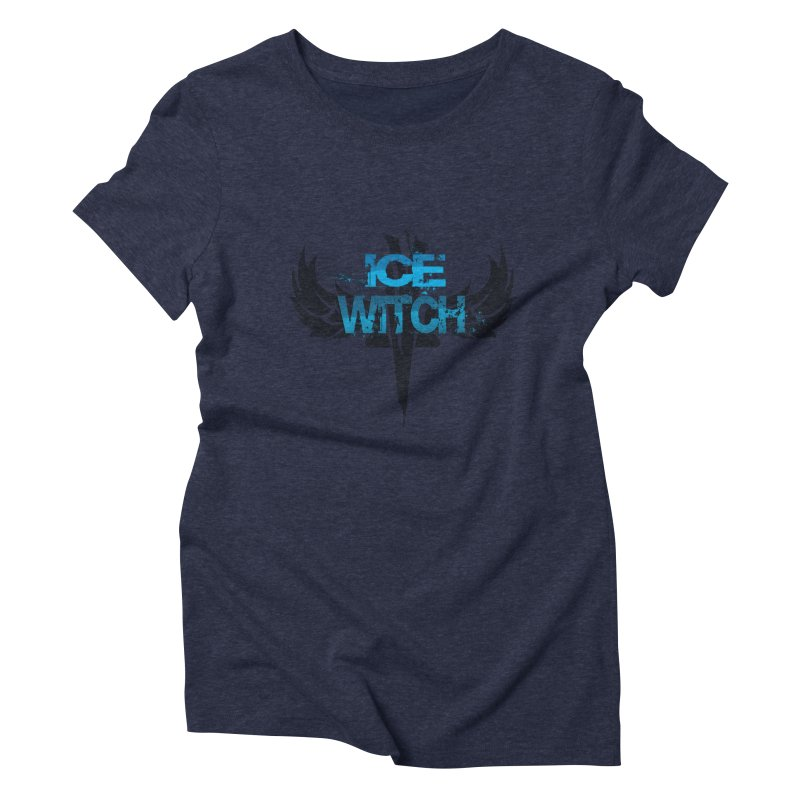 Ice Witch Tattoo Women's Triblend T-Shirt by Lockett Down's Artist Shop