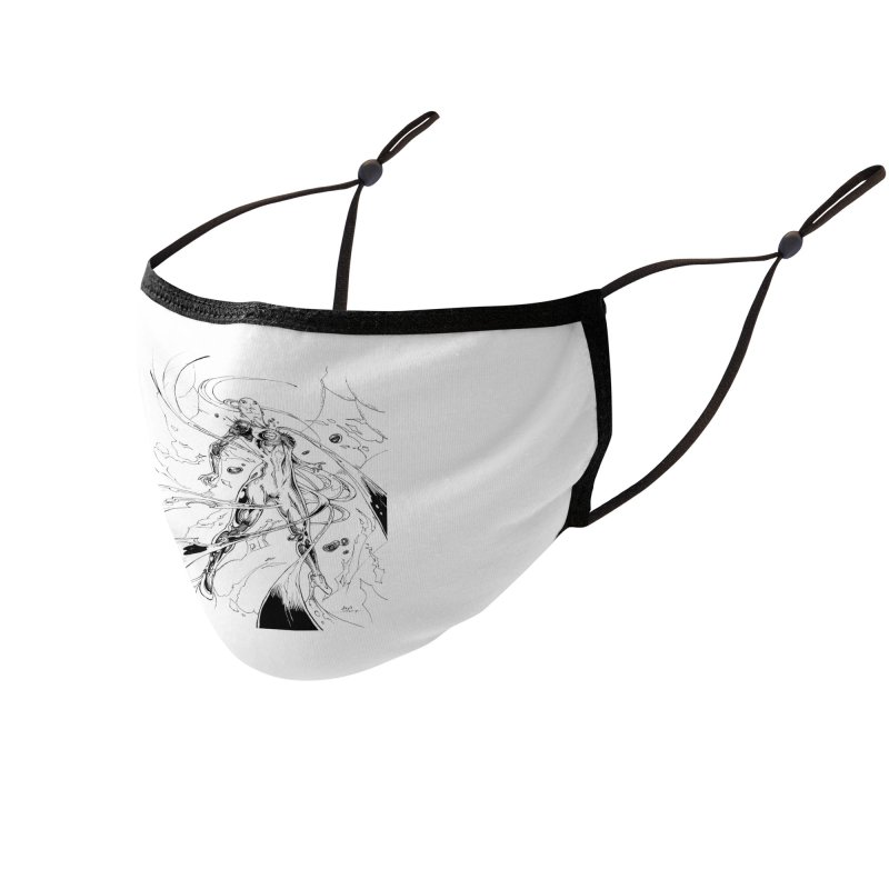 Suiting Up Accessories Face Mask by Lockett Down's Artist Shop