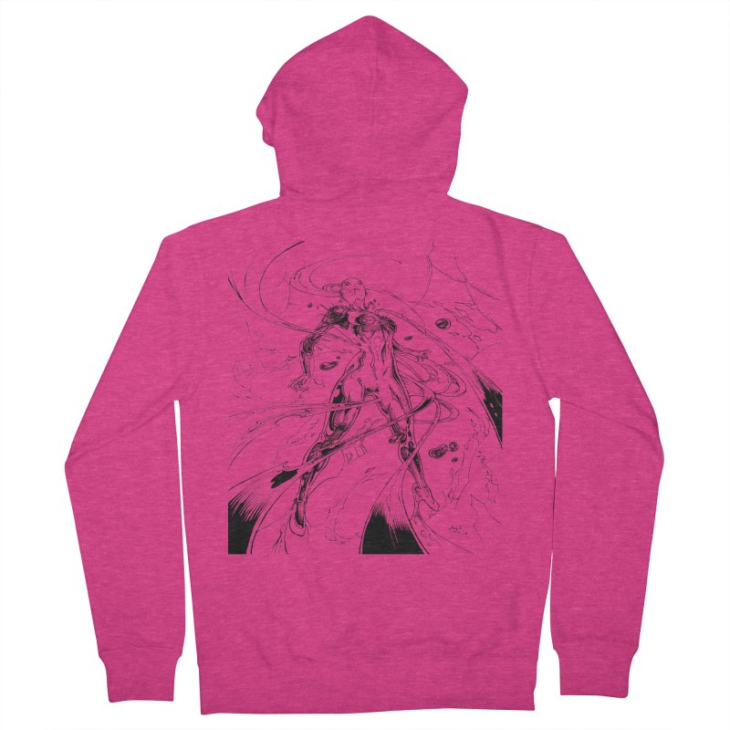 Suiting Up Women's French Terry Zip-Up Hoody by Lockett Down's Artist Shop