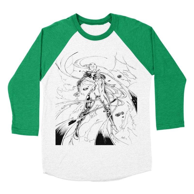 Suiting Up Men's Baseball Triblend Longsleeve T-Shirt by Lockett Down's Artist Shop