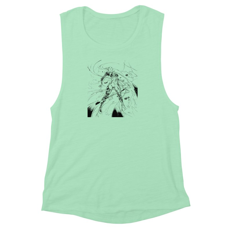 Suiting Up Women's Muscle Tank by Lockett Down's Artist Shop