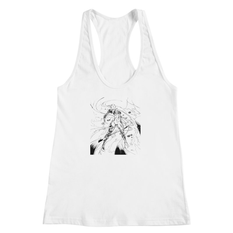 Suiting Up Women's Racerback Tank by Lockett Down's Artist Shop
