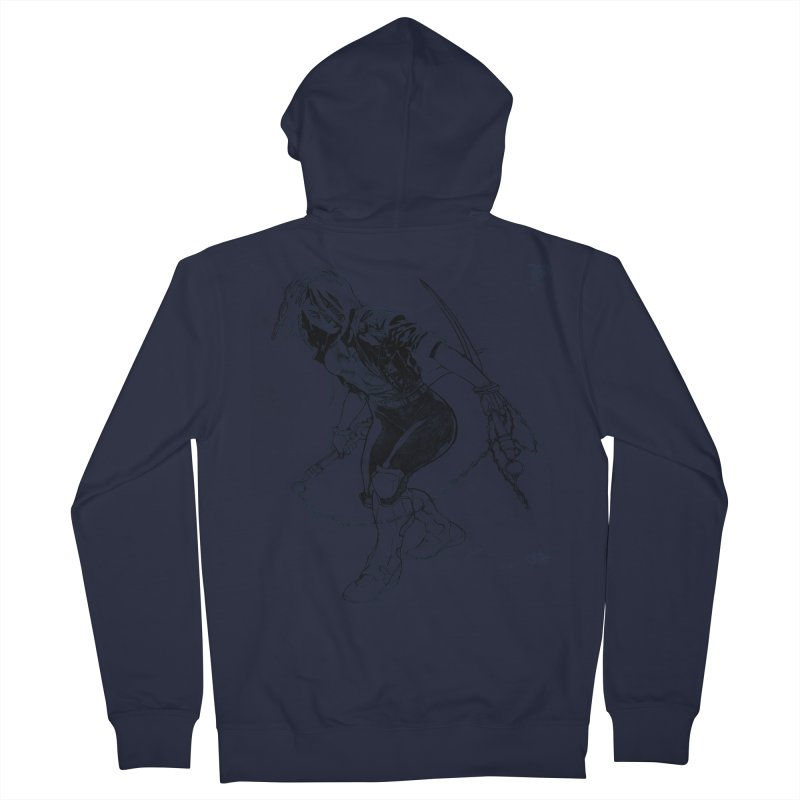 Chenoa  Men's Zip-Up Hoody by Lockett Down's Artist Shop