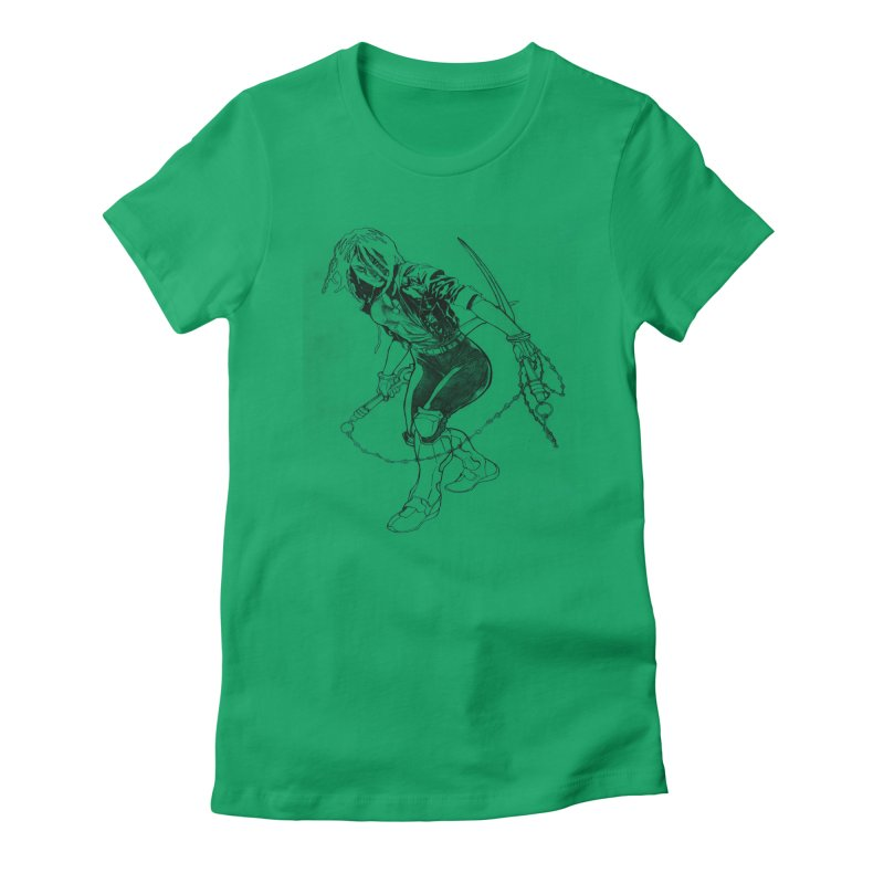 Chenoa  Women's Fitted T-Shirt by Lockett Down's Artist Shop