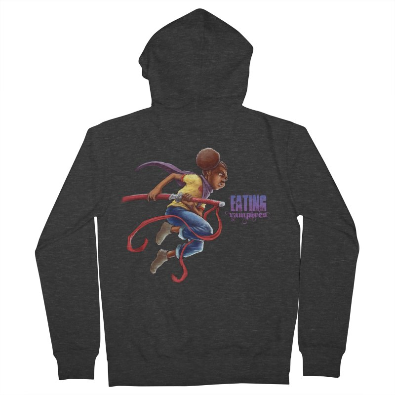 Spring to Action Men's French Terry Zip-Up Hoody by Lockett Down's Artist Shop