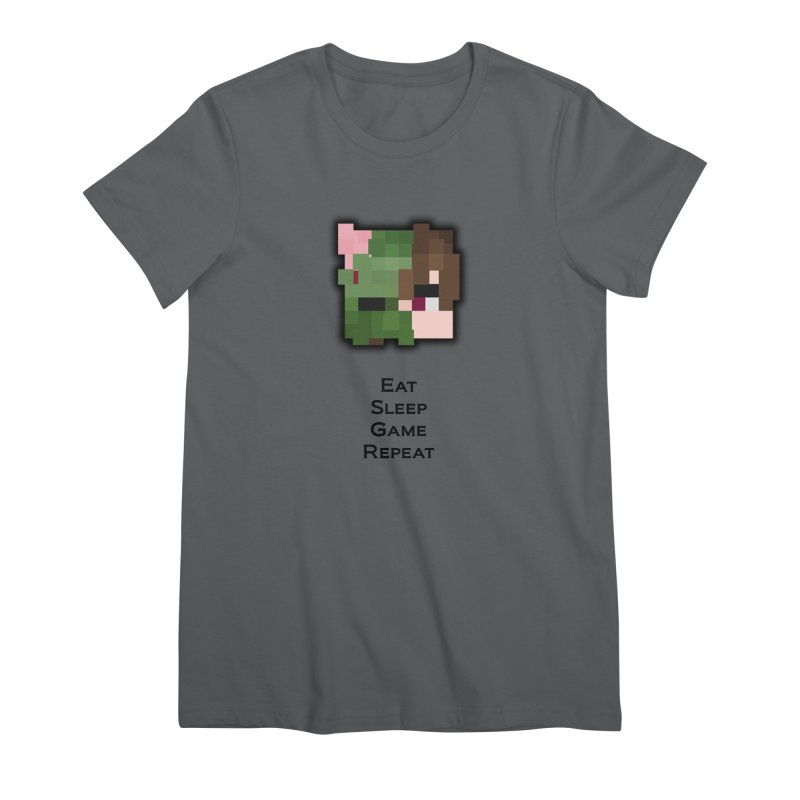 Eat Sleep Game Repeat Line Women's T-Shirt by Lockyz Group