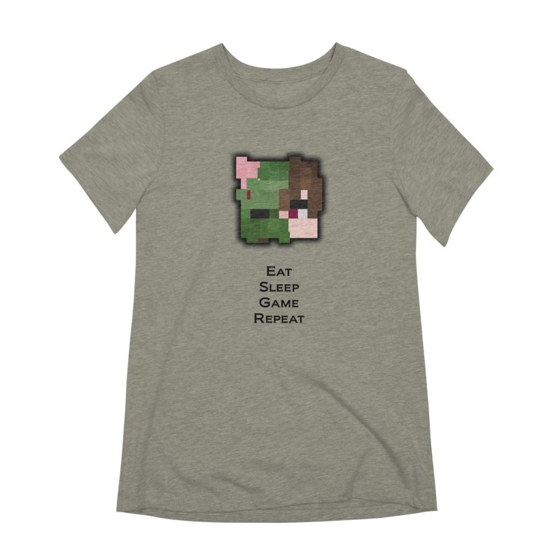 Eat Sleep Game Repeat Line Women's Extra Soft T-Shirt by Lockyz Group