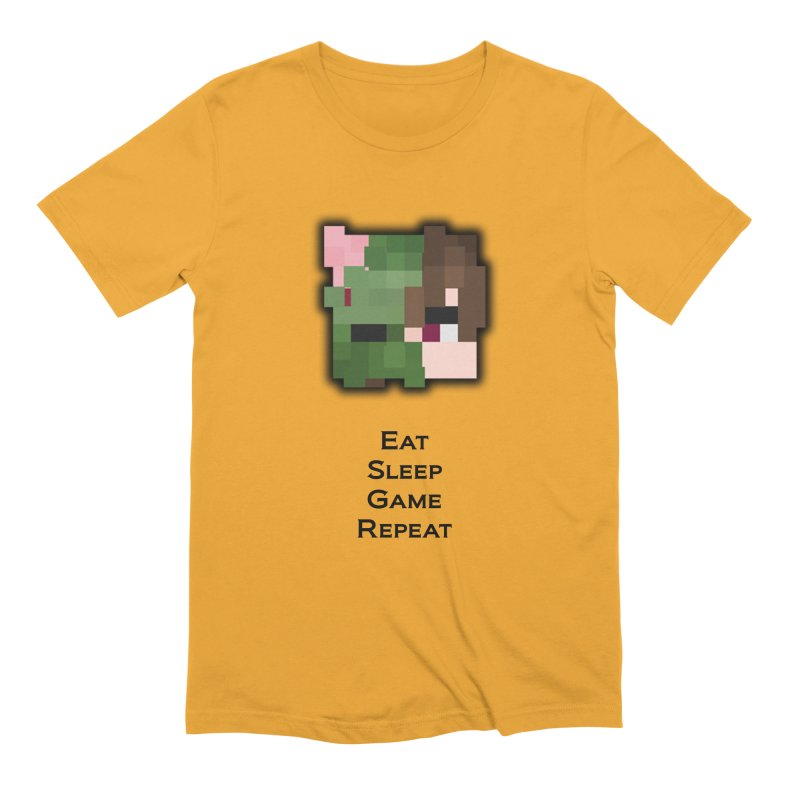 Eat Sleep Game Repeat Line Men's Extra Soft T-Shirt by Lockyz Group