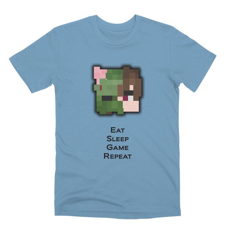Eat Sleep Game Repeat Line Men's Premium T-Shirt by Lockyz Group