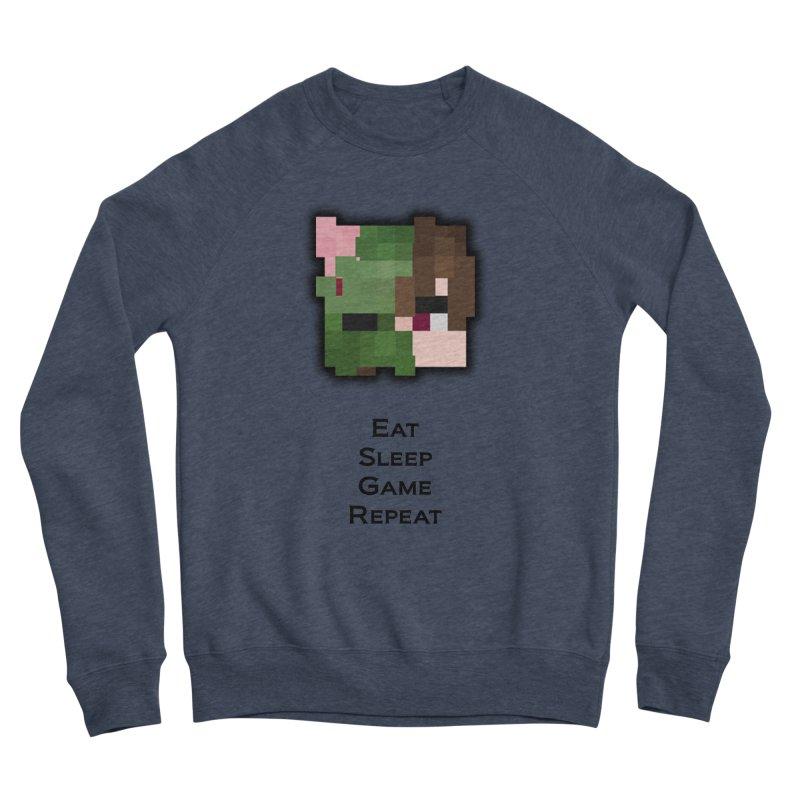 Eat Sleep Game Repeat Line Men's Sponge Fleece Sweatshirt by Lockyz Group