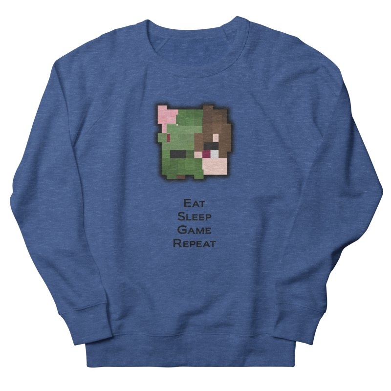 Eat Sleep Game Repeat Line Men's Sweatshirt by Lockyz Group