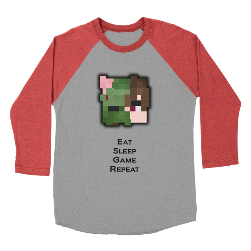 Eat Sleep Game Repeat Line Men's Longsleeve T-Shirt by Lockyz Group