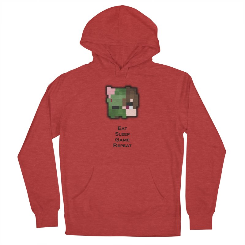 Eat Sleep Game Repeat Line Men's French Terry Pullover Hoody by Lockyz Group