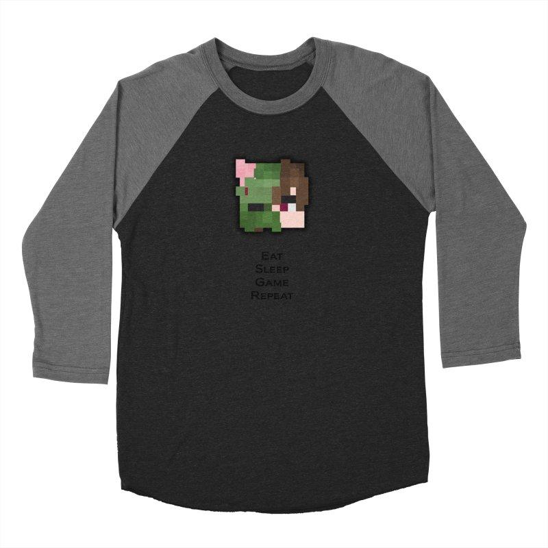 Eat Sleep Game Repeat Line Men's Baseball Triblend Longsleeve T-Shirt by Lockyz Group