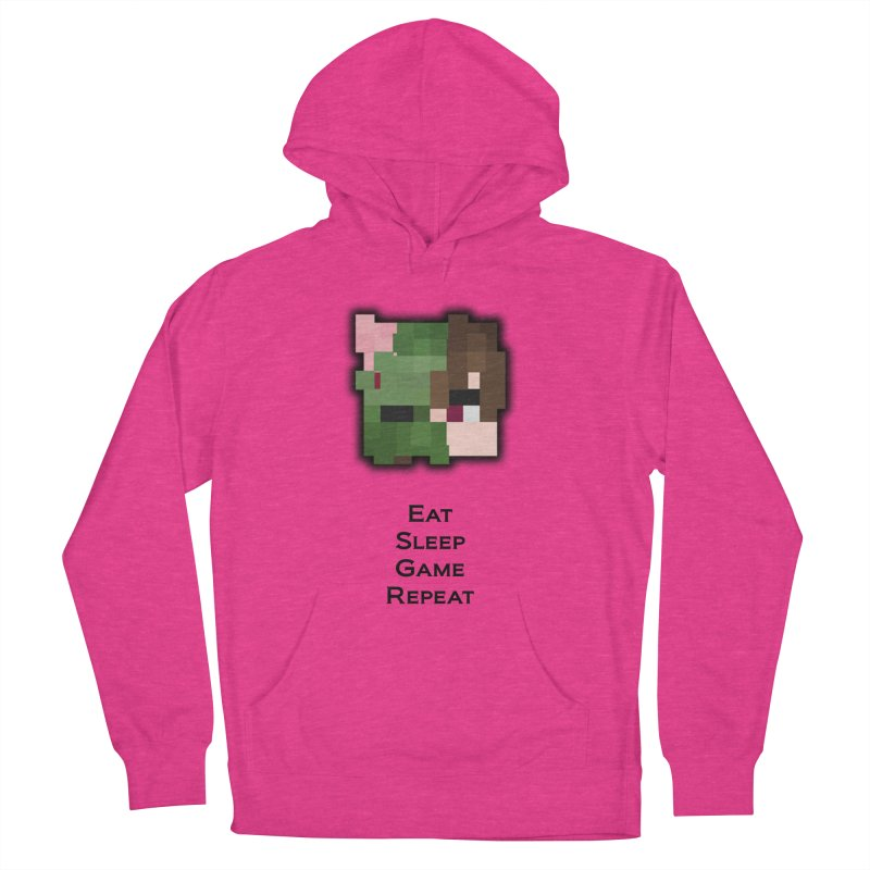 Eat Sleep Game Repeat Line Women's French Terry Pullover Hoody by Lockyz Group