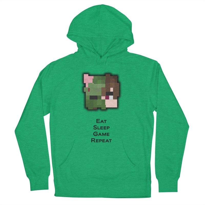 Eat Sleep Game Repeat Line Men's Pullover Hoody by Lockyz Group