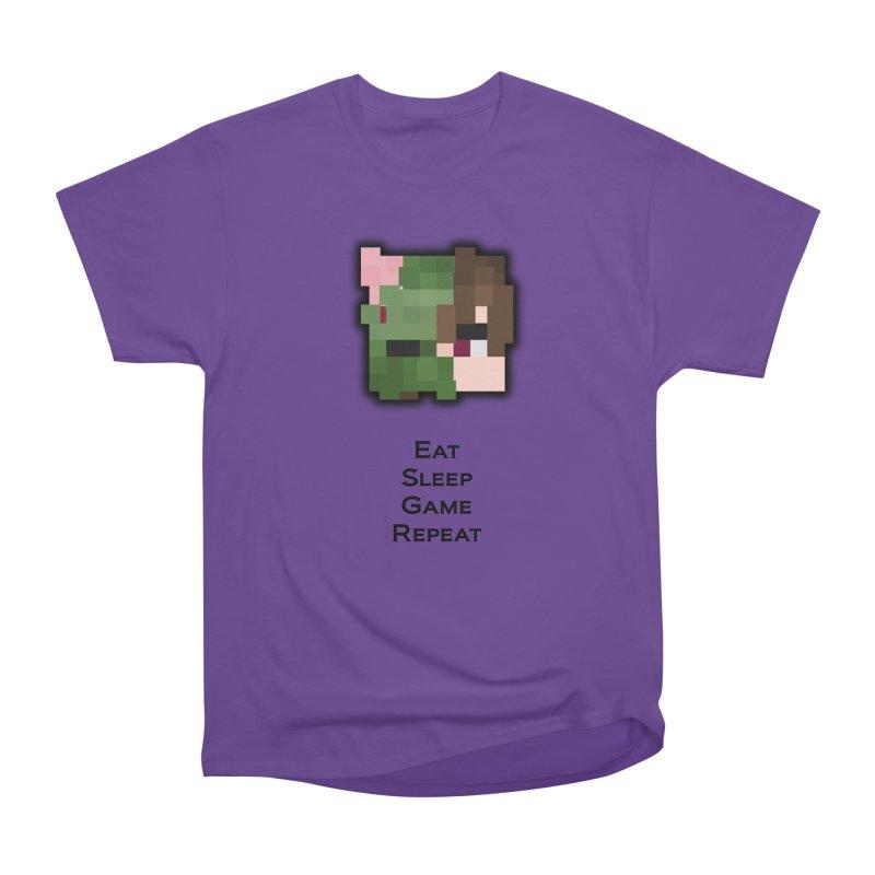 Eat Sleep Game Repeat Line Men's Heavyweight T-Shirt by Lockyz Group