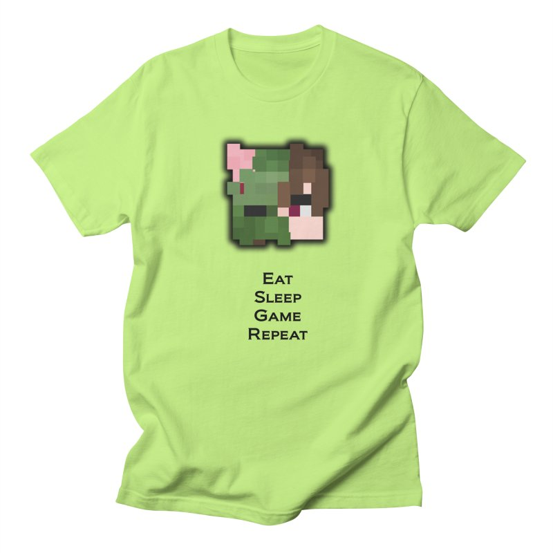 Eat Sleep Game Repeat Line Men's T-Shirt by Lockyz Group