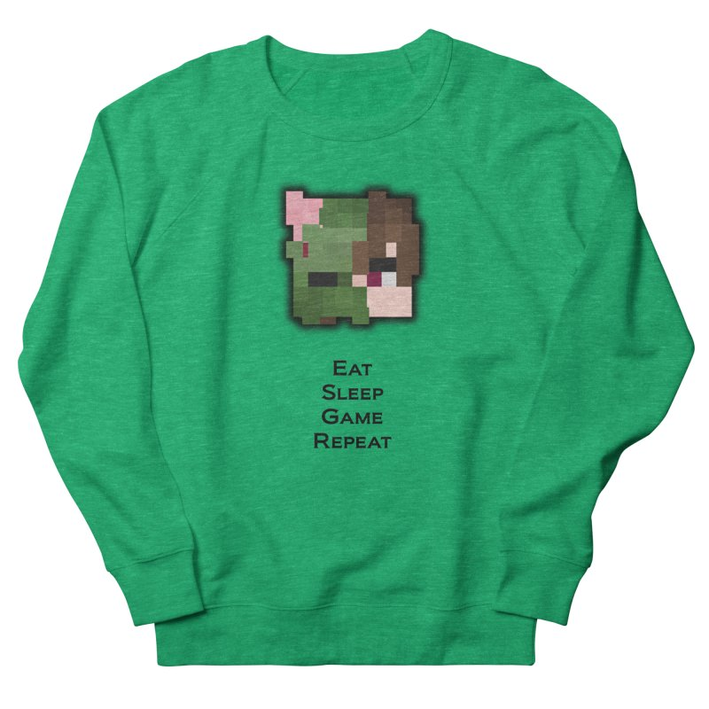 Eat Sleep Game Repeat Line Men's French Terry Sweatshirt by Lockyz Group