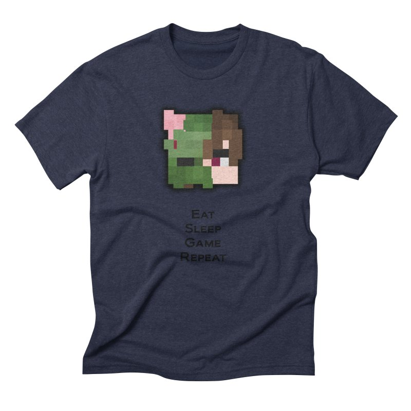 Eat Sleep Game Repeat Line Men's Triblend T-Shirt by Lockyz Group