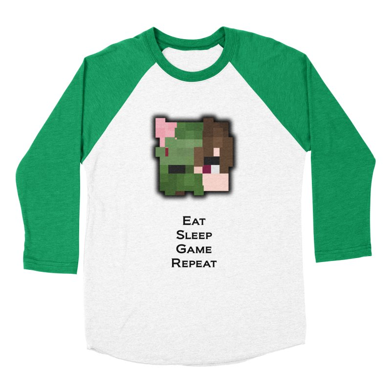 Eat Sleep Game Repeat Line Women's Baseball Triblend Longsleeve T-Shirt by Lockyz Group