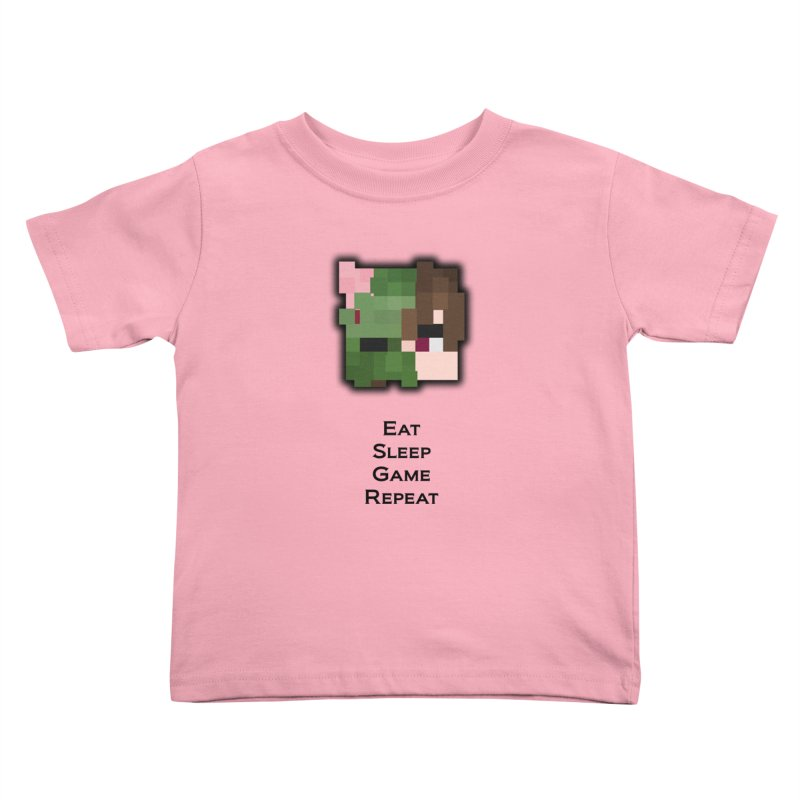 Eat Sleep Game Repeat Line Kids Toddler T-Shirt by Lockyz Group