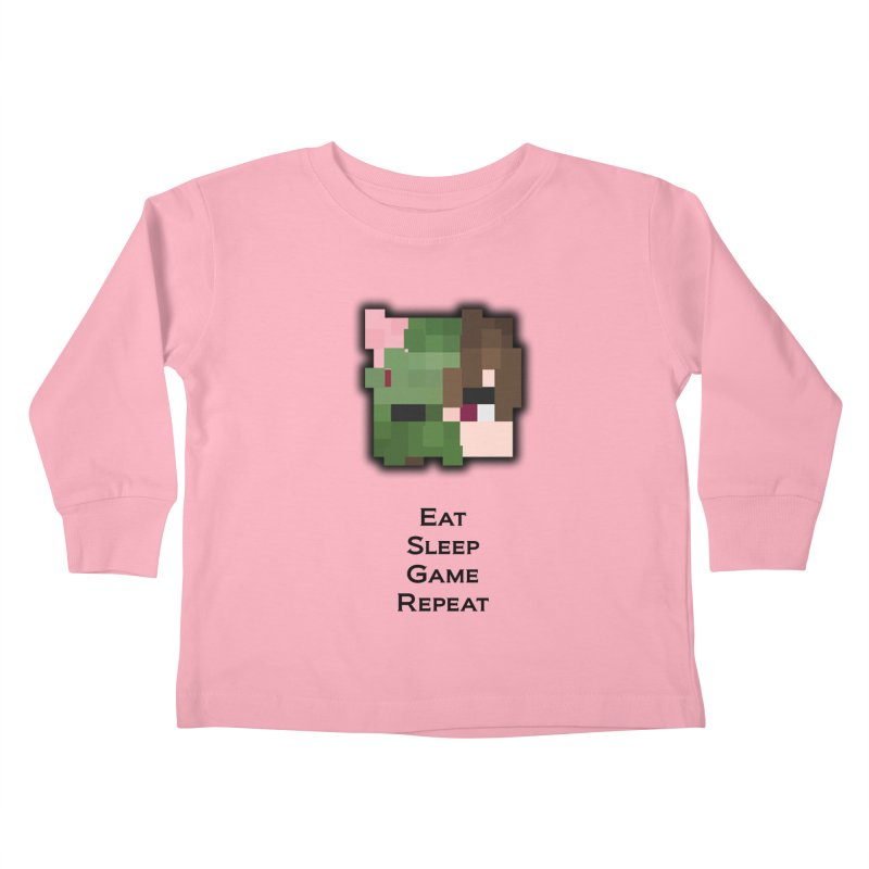 Eat Sleep Game Repeat Line Kids Toddler Longsleeve T-Shirt by Lockyz Group