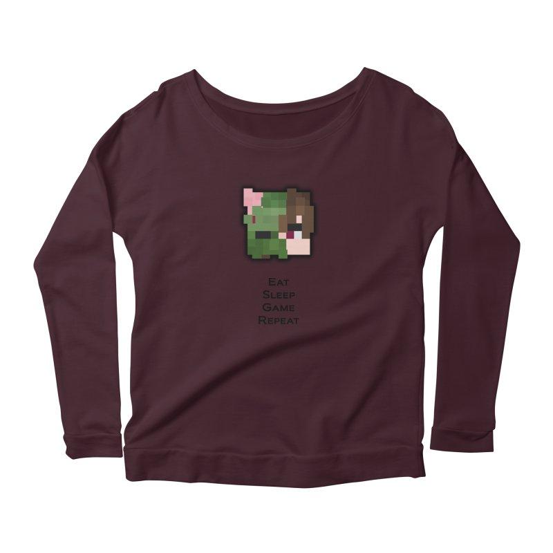 Eat Sleep Game Repeat Line Women's Longsleeve T-Shirt by Lockyz Group