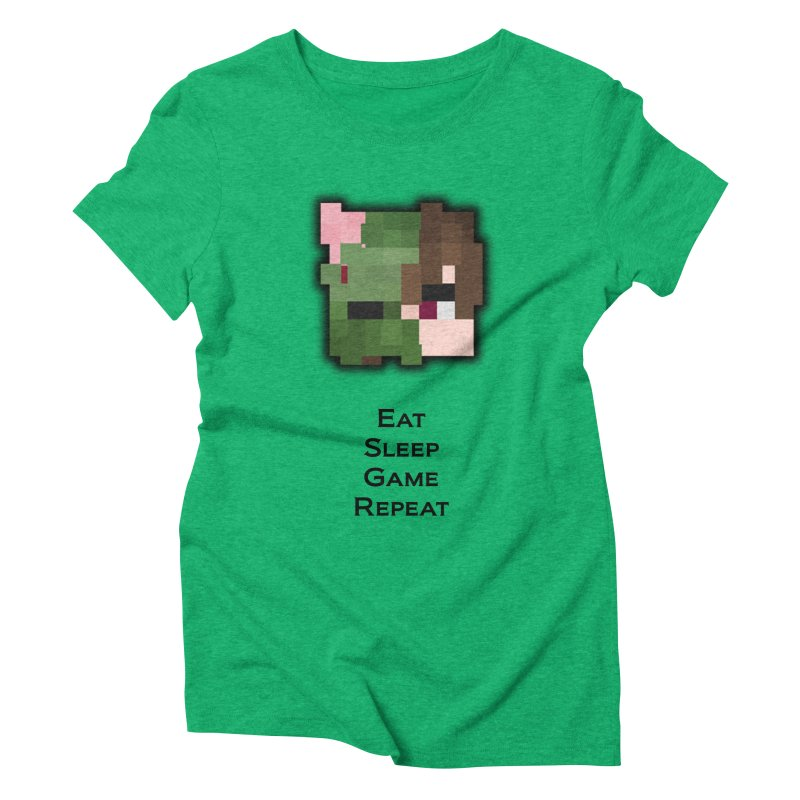 Eat Sleep Game Repeat Line Women's Triblend T-Shirt by Lockyz Group