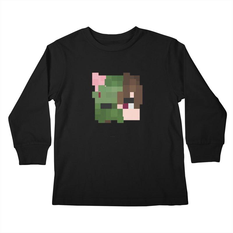 Eat Sleep Game Repeat Line Kids Longsleeve T-Shirt by Lockyz Group