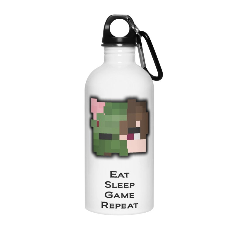 Eat Sleep Game Repeat Line Accessories Water Bottle by Lockyz Group