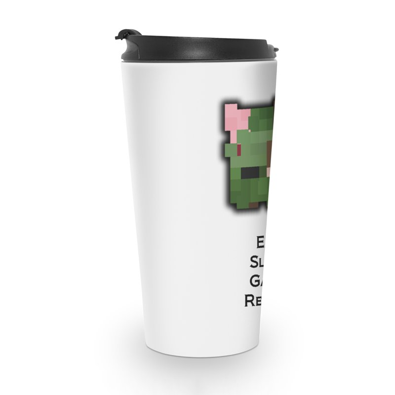 Eat Sleep Game Repeat Line Accessories Travel Mug by Lockyz Group