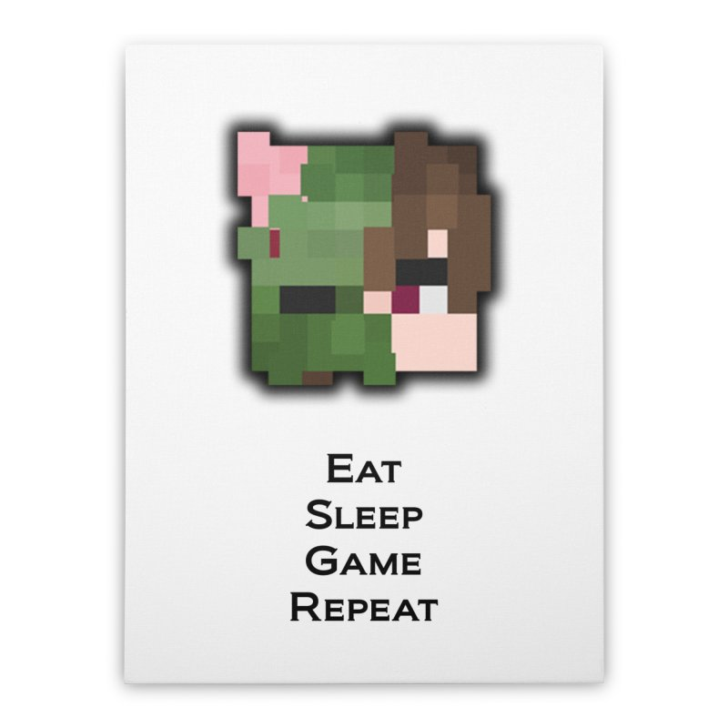 Eat Sleep Game Repeat Line Home Stretched Canvas by Lockyz Group