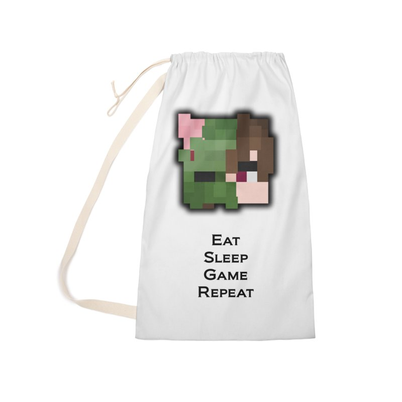 Eat Sleep Game Repeat Line Accessories Laundry Bag Bag by Lockyz Group