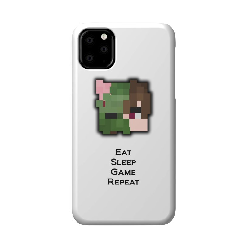 Eat Sleep Game Repeat Line Accessories Phone Case by Lockyz Group