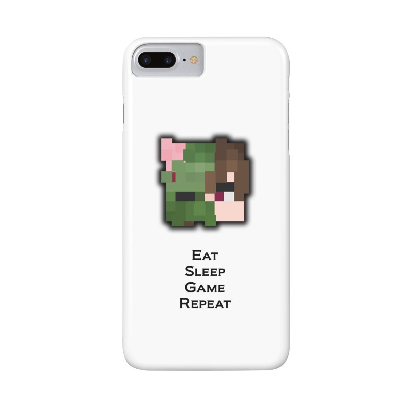Eat Sleep Game Repeat Line Accessories Lined Spiral Notebook by Lockyz Group